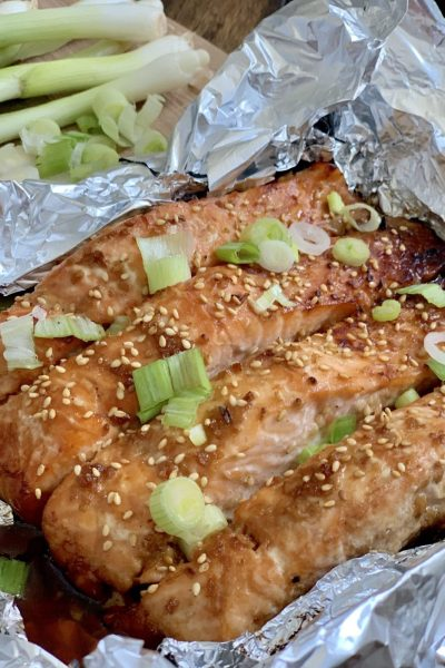 Asian Glazed Salmon in Foil