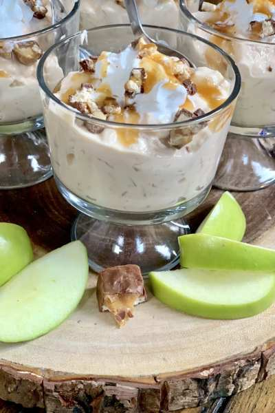 Two Point Snickers Caramel Apple Salad