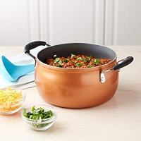 Tasty 5Qt Dutch Oven with Lid - Diamond Non-Stick, Copper