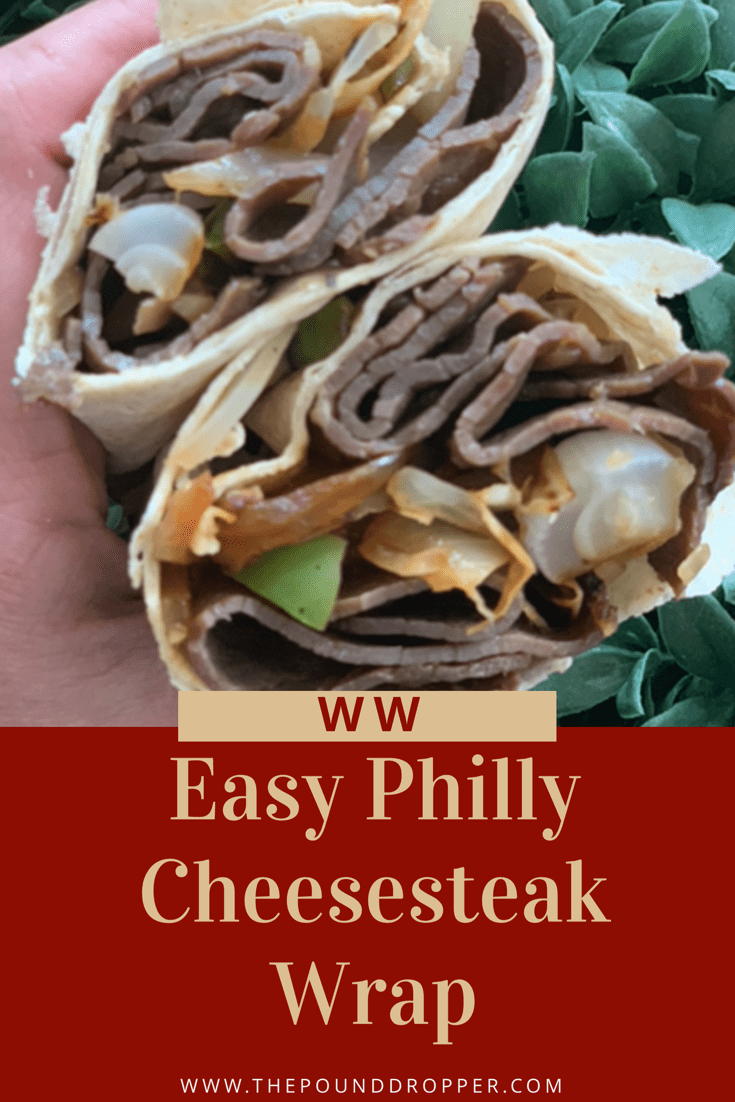 Easy Low Point Philly Cheesesteak Wrap