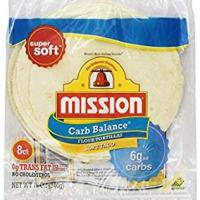 Mission Low Carb Soft Taco Flour Tortilla's 12oz./8 Ct. (Pack of 6) by Mission Ltd