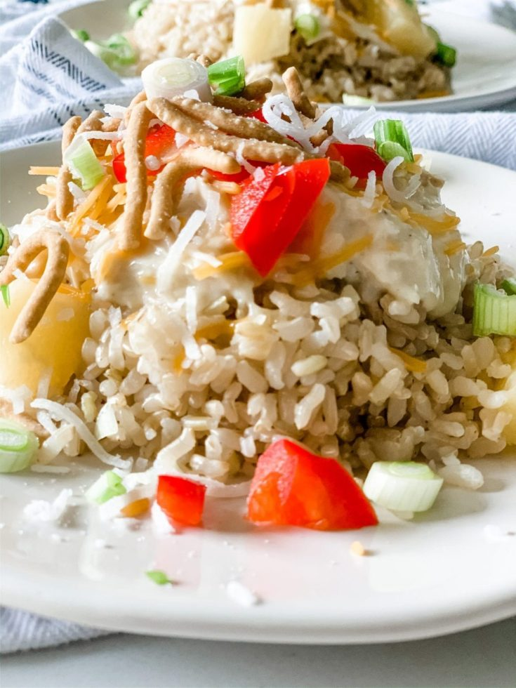 Skinny Chicken Hawaiian Haystacks