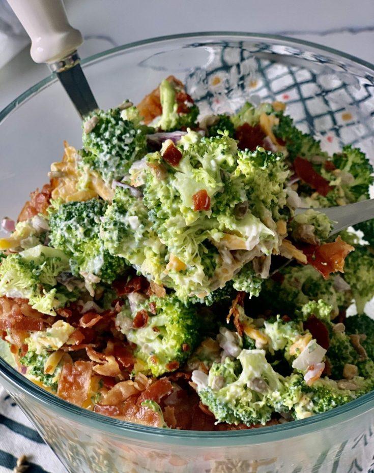 Skinny Creamy Broccoli Salad