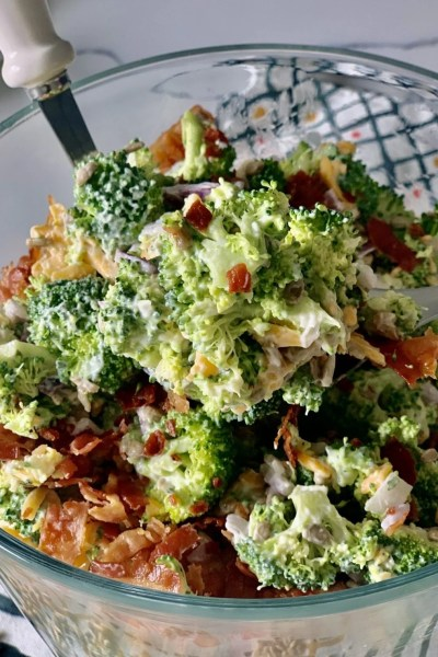 Skinny Creamy Broccoli Salad