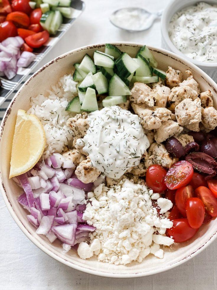 Skinny Greek Chicken Bowls