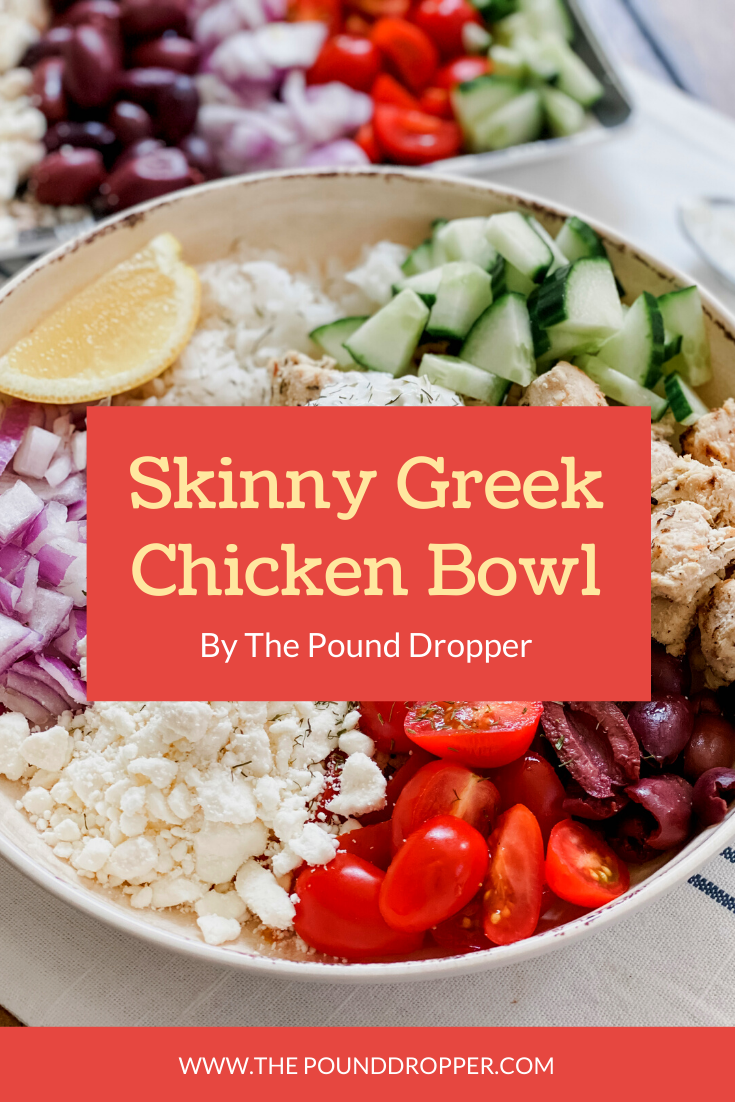 Skinny Greek Chicken Bowls via @pounddropper