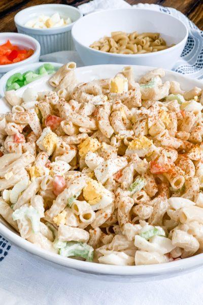 Skinny Classic Macaroni Salad