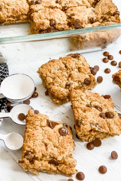 Skinny Chocolate Chip Bars