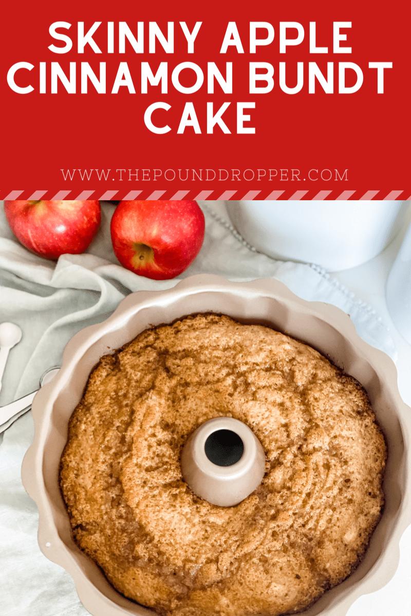 Skinny Apple Cinnamon Bundt Cake via @pounddropper