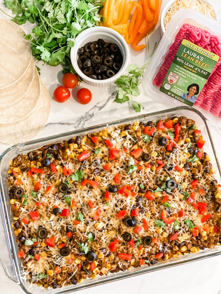 Easy Lightened Up Mexican Casserole
