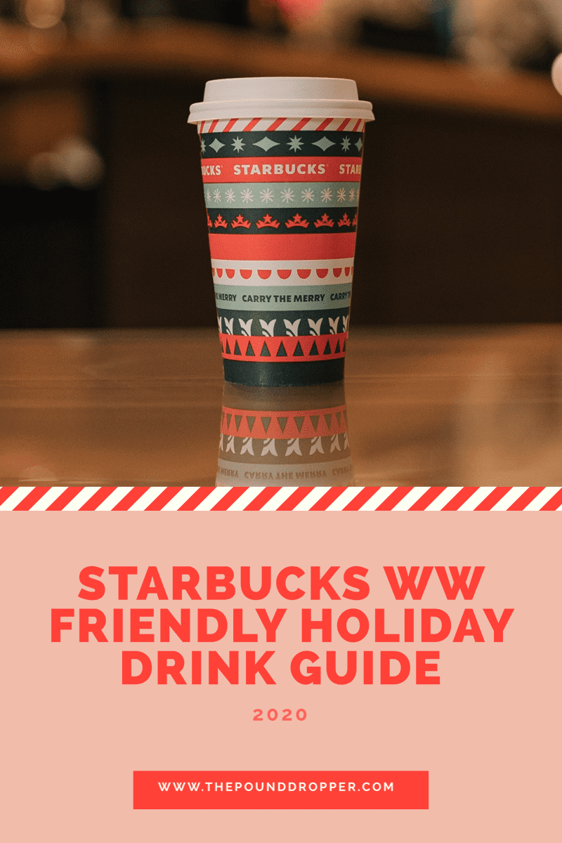 Starbucks WW Friendly Holiday Drink Guide via @pounddropper