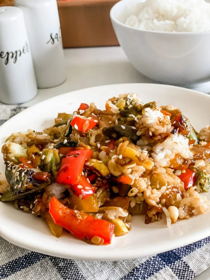 Easy Teriyaki Chicken and Rice Casserole