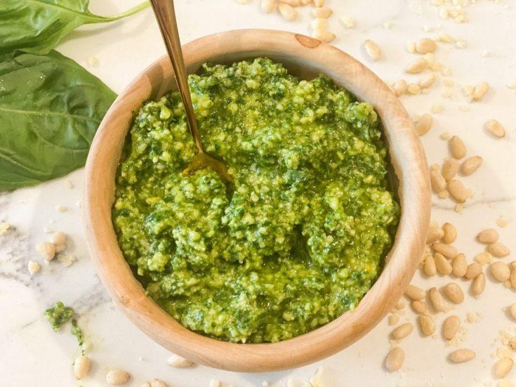 Lightened Up Homemade Pesto Sauce