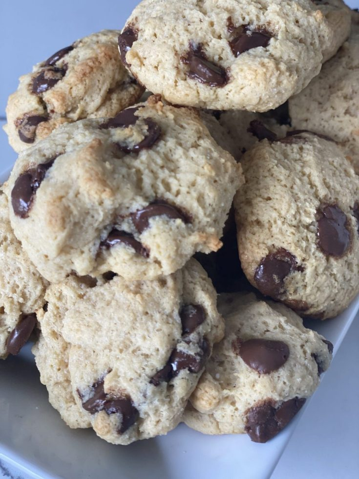 Two Point Chocolate Chip Pudding Cookies