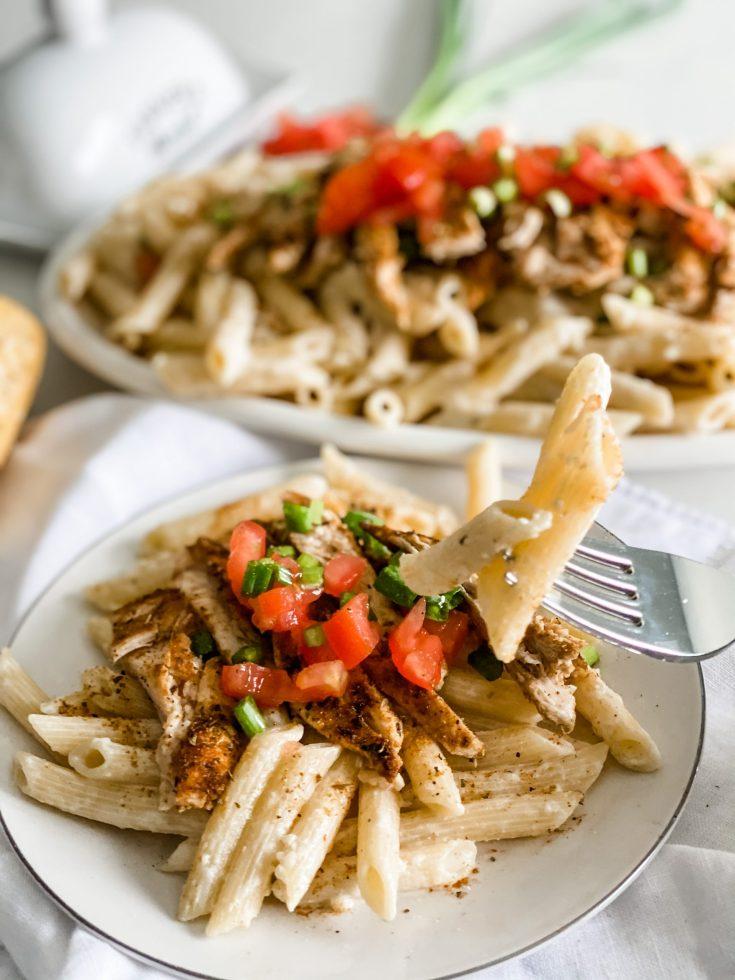 Lightened Up Copycat Chili's Cajun Chicken Pasta