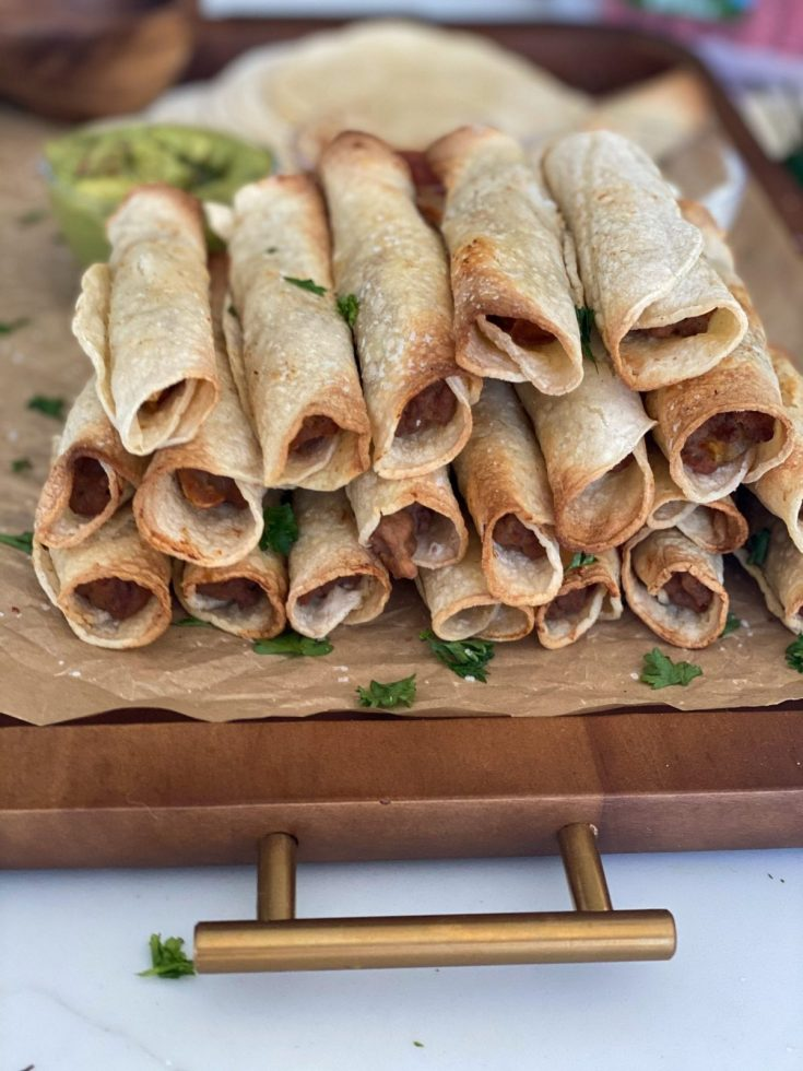 Easy Beef and Bean Taquitos (Baked or Air Fried)