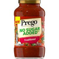 Prego Pasta Sauce, No Sugar Added Traditional Tomato Sauce, 23.5 Ounce Jar