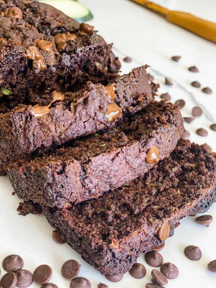 Skinny Chocolate Zucchini Loaf or Muffins