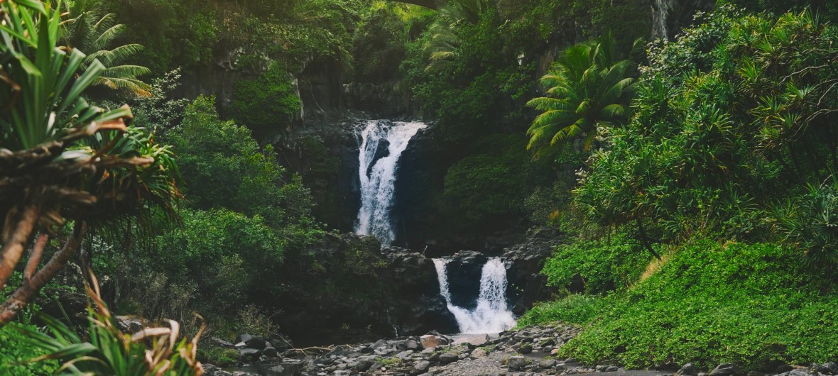 Waterfall Hawaii view