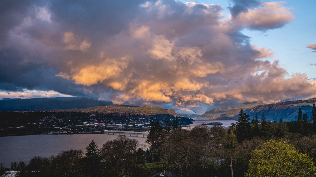 Sunrise over Hood River, OR