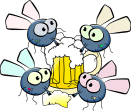https://pixabay.com/en/flies-drinking-beer-festival-party-161350/
