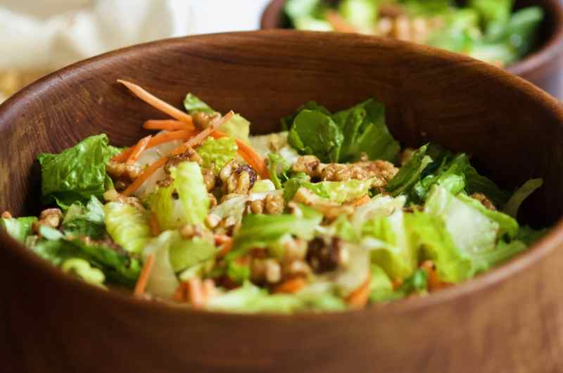 Lettuce and Walnut Salad with Mustard-Dill Vinaigrette