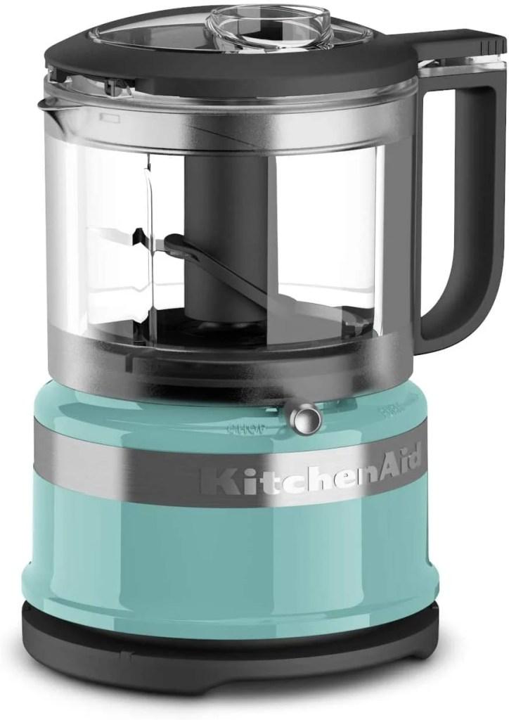 kitchenaid mini food processor in aqua