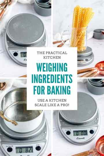 weighing ingredients for baking