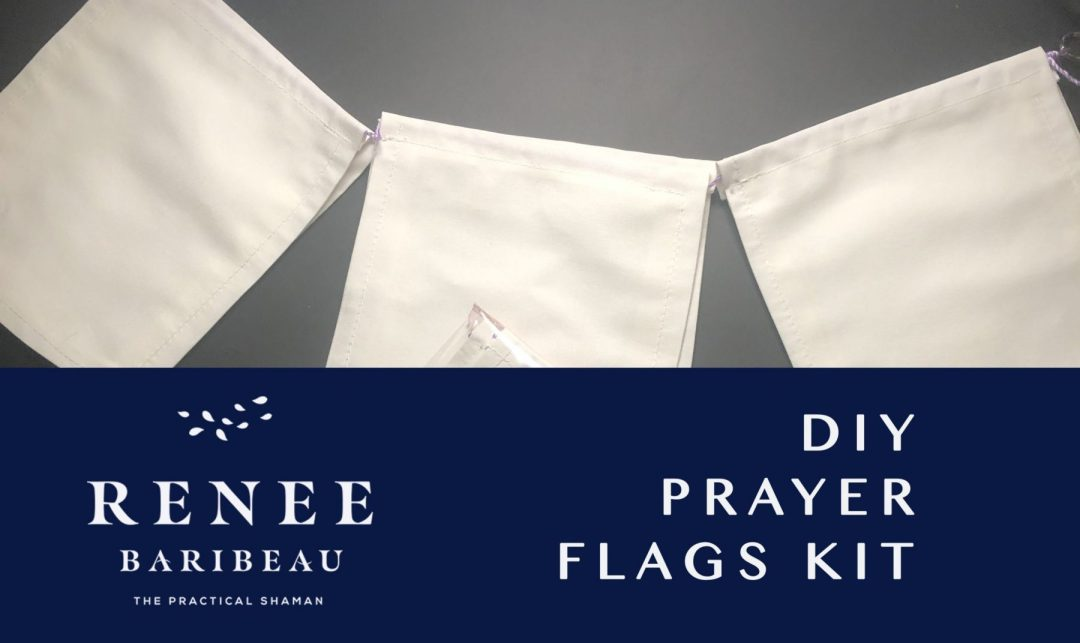 New at the Practical Shaman. Blessed Prayer Flags: DIY. A strand of 9 plain white flags (6 1/2\