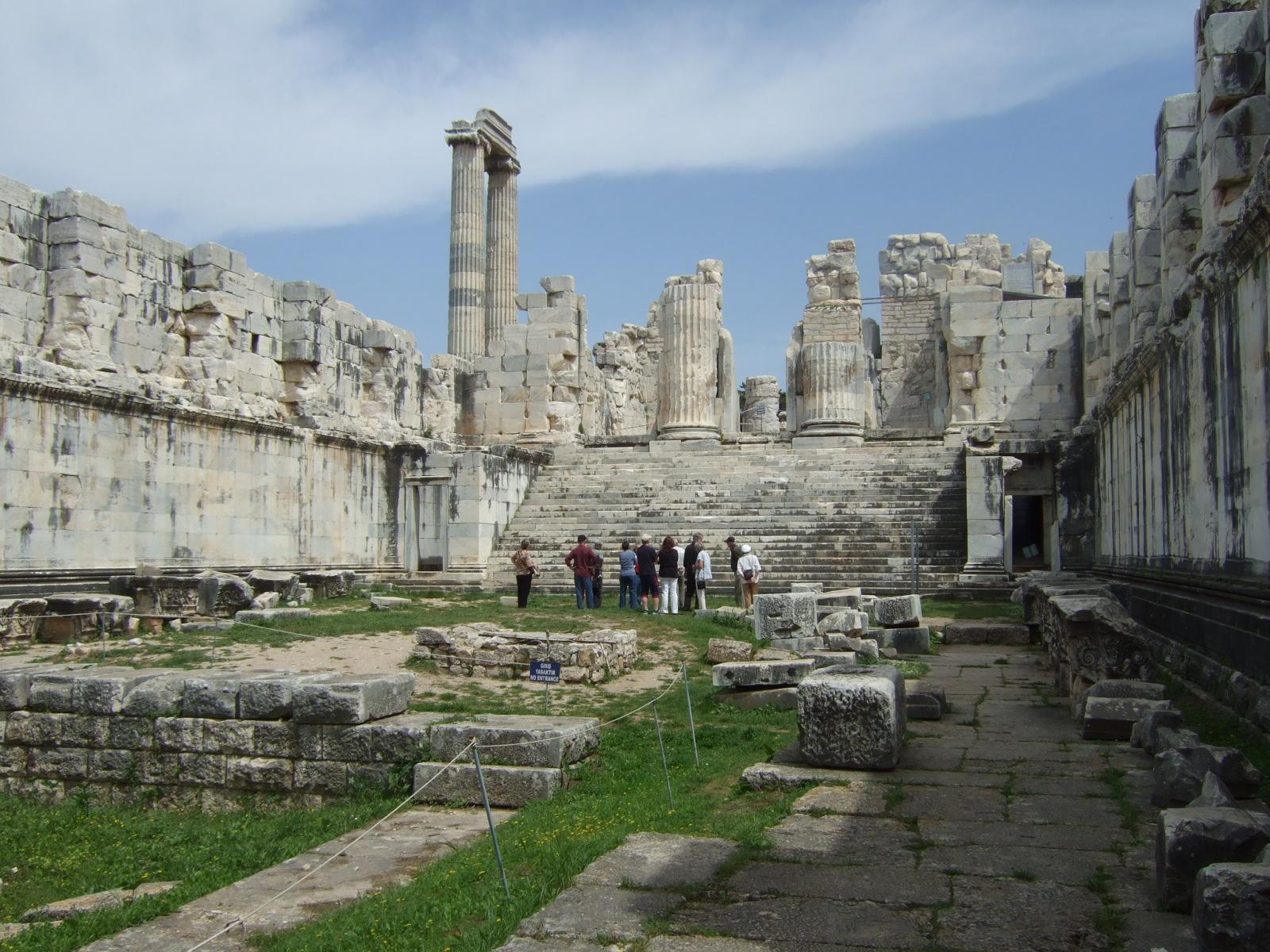 Dilapidated-the Temple of Apollo Dydima Turkey