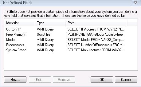 Automate BGInfo System Information