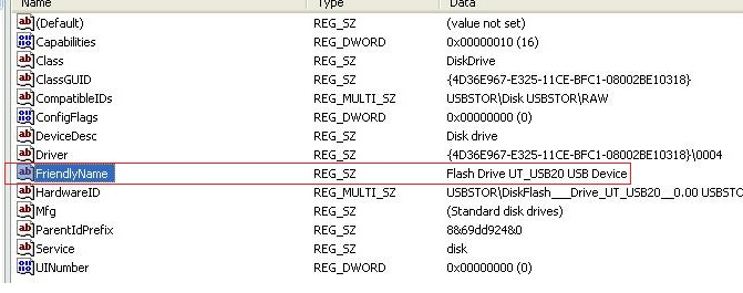 Check previously connected USB devices windows