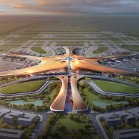 Check Out the Structural Bones of this new Airport Terminal in Beijing from Zaha Hadid Architects...