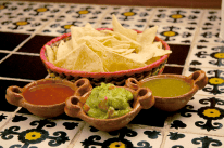 Prague Wandering Spring 2013 Issue Number 1 Las Adelitas' chips with guacamole and sauces
