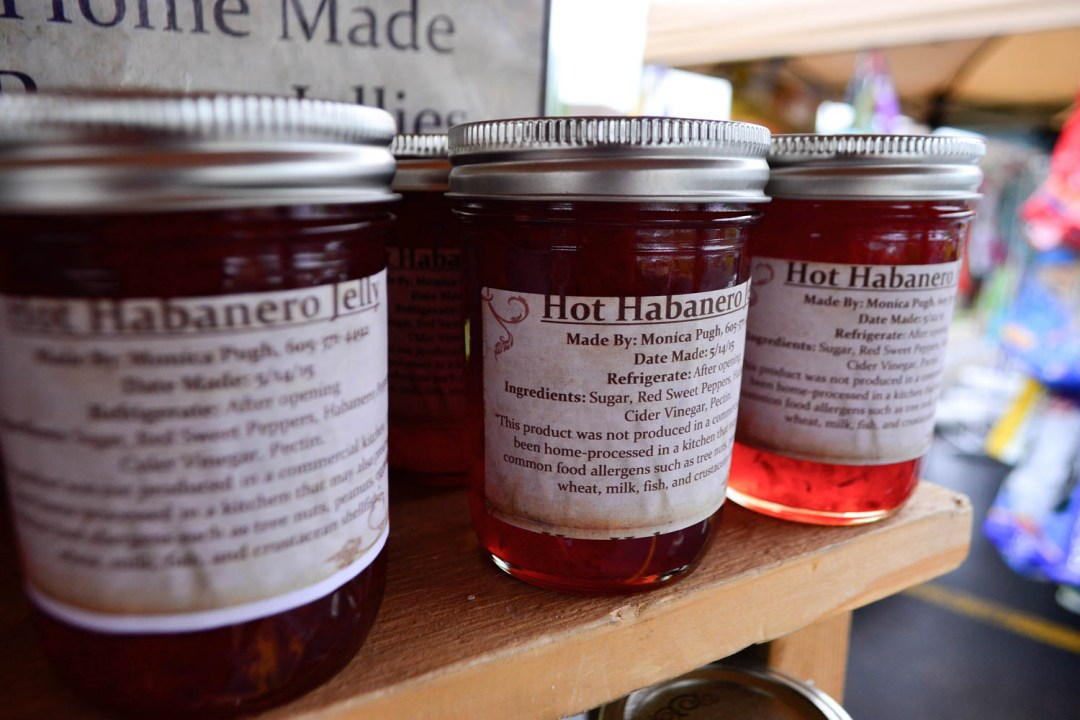 nicas jams hot habenero jelly at the prairie farmers market