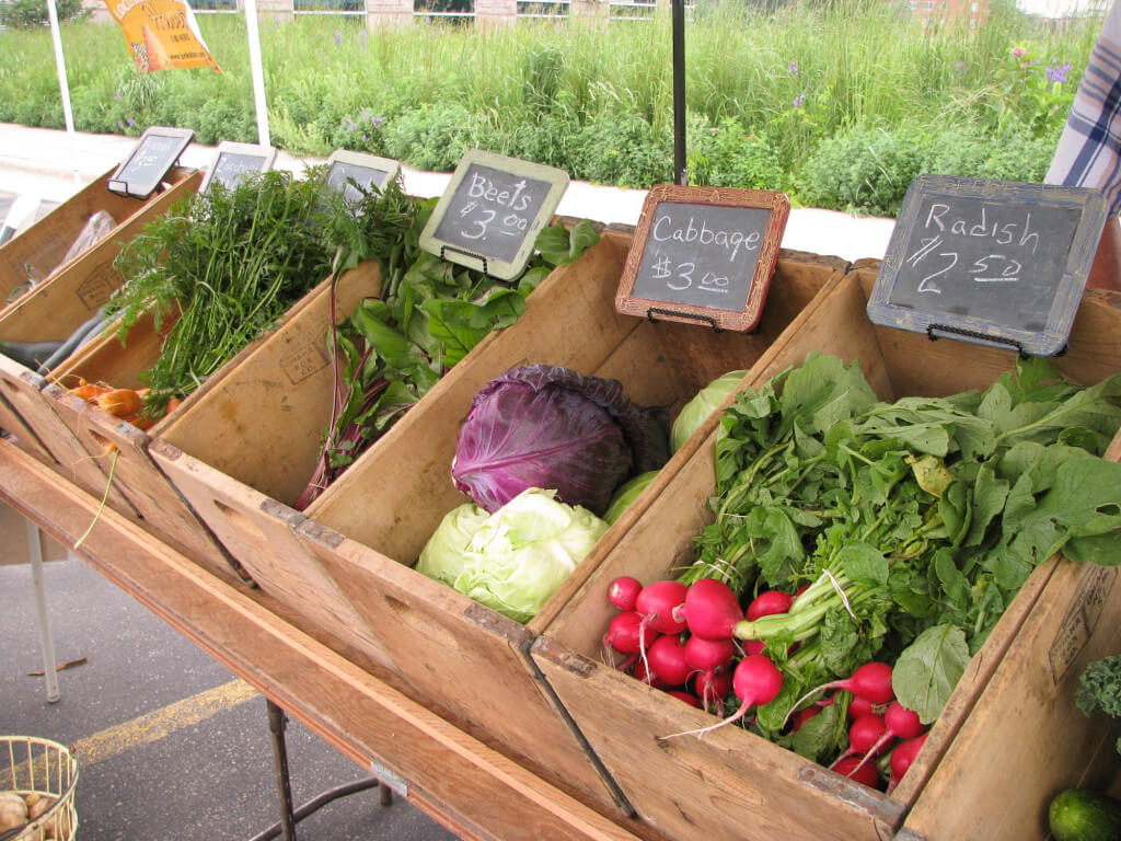 vegetables and produce at The Prairie Farmers Market