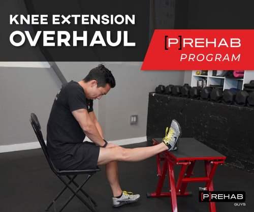 quadriceps activation knee extension overhaul the prehab guys