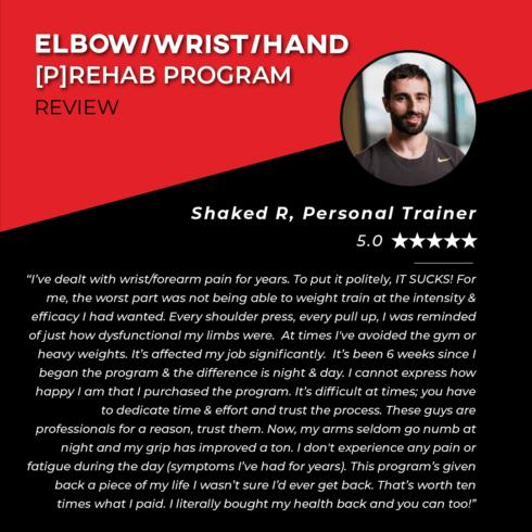 TPG Testimonials - Elbow - Shaked R