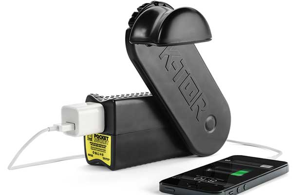 The K-TOR human-powered generators fill this 'blackout gap' and can power some devices directly or provide useful amounts of energy to charge small and medium capacity batteries for later use.