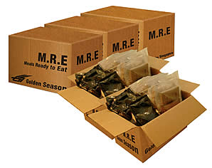 MRE's are a common choice for Emergency Food.