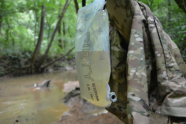The Platypus Bag system is my favorite bug out bag water filtration method.