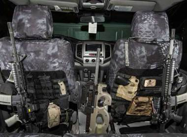 """If you think of the rear half of a quad cab interior (with the seats removed) as a large empty box, you will typically have a flat area between the doors as well as two passenger foot wells behind the front seats. In my case, this provides about 42 cubic feet of space for storage (>72,500 cu. in.). In contrast, my primary bug out bag, (5.11 Rush24), has a capacity of 2,000 cubic inches in the main compartment. In effect, my """"rolling"""" bug out platform is the equivalent of 36 bug out bags; without even factoring in the capacity of the truck bed."""