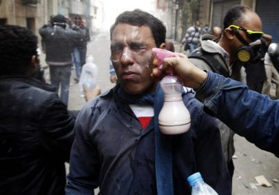 Washing out Pepper Spray
