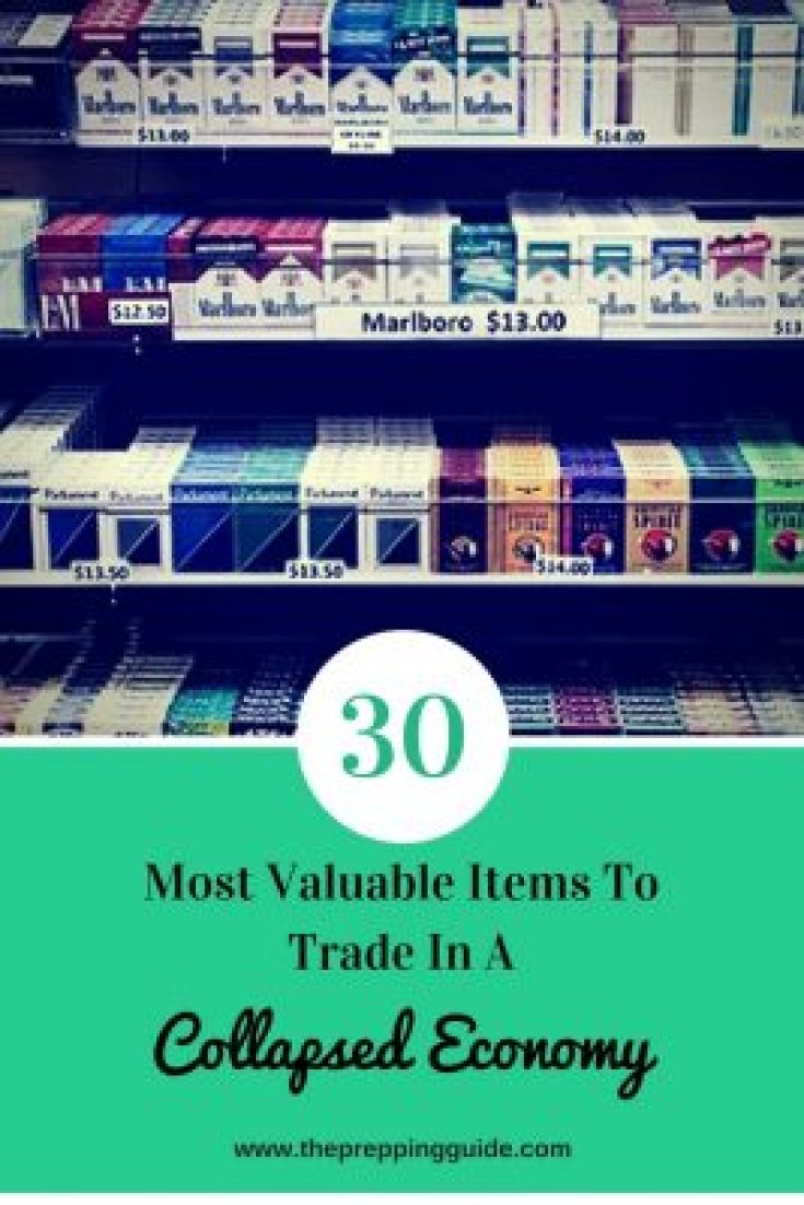The 30 Most Valuable Items To Store and Trade in a Collapsed Economy