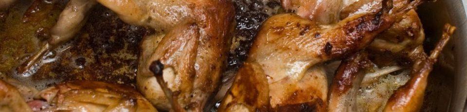 Quail meat from quail farming
