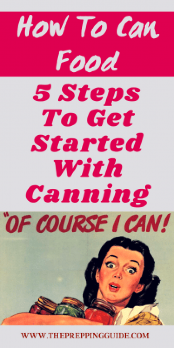 How to start canning for preserving prepper food