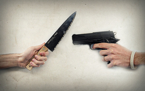 The 21-Foot Rule: Why You Should Bring A Knife To A Gun Fight