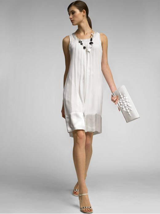 Banana Republic Monogram Silk Georgette Dress