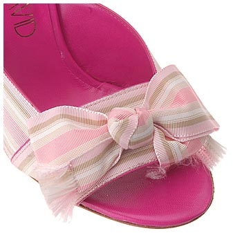 JOan & David Sandal with Grosgrain Bow