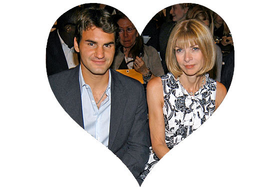 NY Mag Anna Wintour & Roger Federer in heart pic